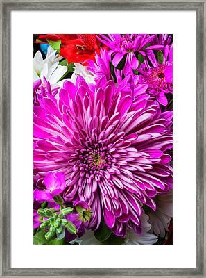 Mum Bouquet Framed Print