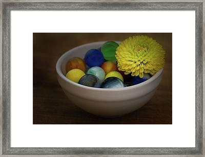 Mum In Marbles Framed Print by Denise McKay