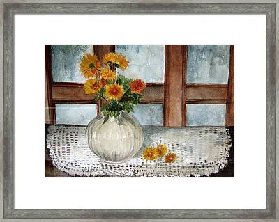 Mum Is The Word Framed Print