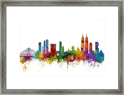 Mumbai Skyline India Bombay Framed Print