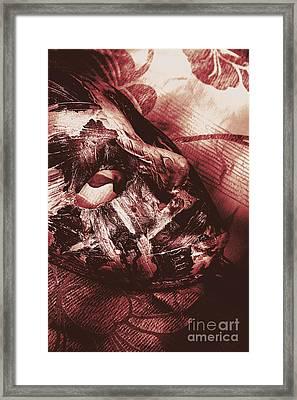 Mummified Paper Mache Horror Mask. Dark Carnival Framed Print by Jorgo Photography - Wall Art Gallery