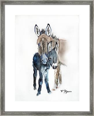 Mummy Donkey Framed Print