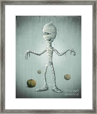 Mummy Halloween Framed Print by Giordano Aita