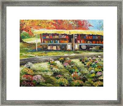 Mums At Market Framed Print