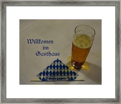 Munchen Bier Framed Print