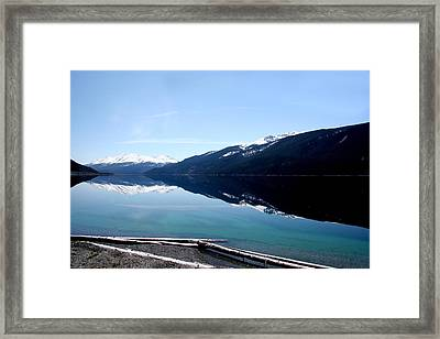 Muncho Lake Reflections Framed Print by Dave Clark