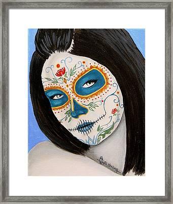 Muneca De Azul Framed Print by Al  Molina