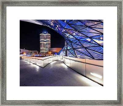 Framed Print featuring the pyrography Munich - Bwm Modern And Futuristic by Hannes Cmarits
