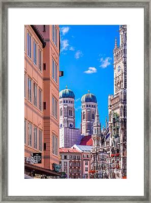 Munich Center Framed Print by Juergen Klust