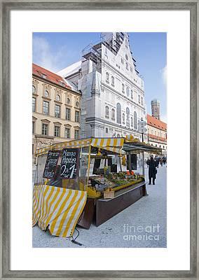 Munich Fruit Seller Framed Print