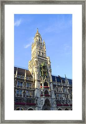 Framed Print featuring the photograph Munich Marienplatz by Corinne Rhode