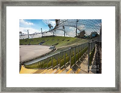 Munich - Olympic Stadium Framed Print by Juergen Klust