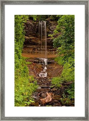 Framed Print featuring the photograph Munising Falls by Thomas Gaitley