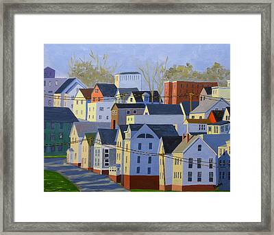 Munjoy Afternoon Framed Print by Laurie Breton