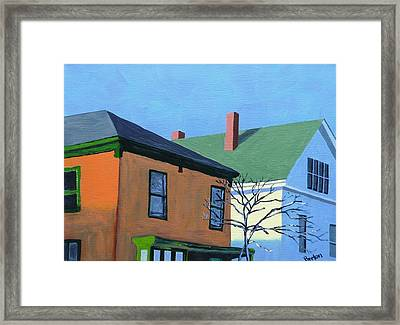 Munjoy Morning Framed Print by Laurie Breton