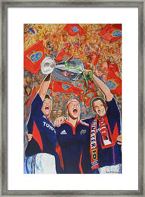Munster Heiniken Cup Winners 2008 Framed Print by Tomas OMaoldomhnaigh