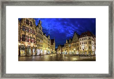 Munster Prinzipalmarkt Framed Print
