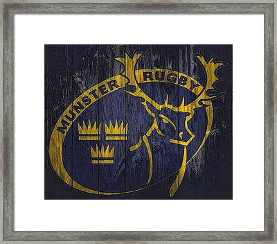 Munster Rugby Graphic Barn Door Framed Print