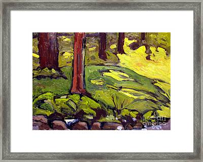 Munters Woods Framed Plein Air Framed Print by Charlie Spear