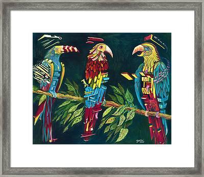 Munton Parrots Framed Print