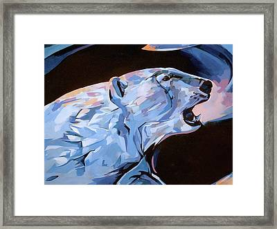 Framed Print featuring the painting Mural 12 X 16 Detail Spirit Of The Arctic   by Tim  Heimdal