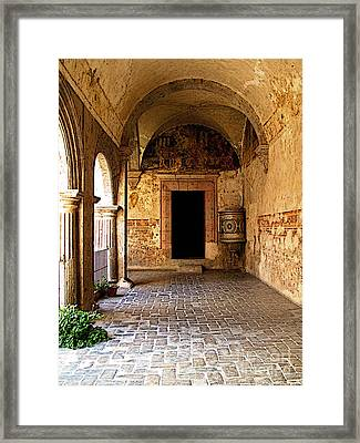 Mural And Urn 2 Framed Print