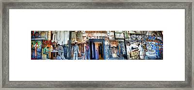 Mural Coit Tower Interior Panorama  Framed Print