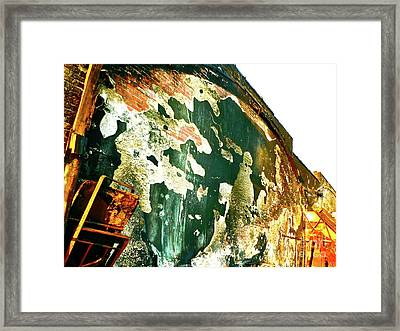 Mural Of Destruction Framed Print by Chuck Taylor