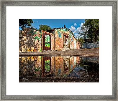 Mural Reflected Framed Print by Christopher Holmes