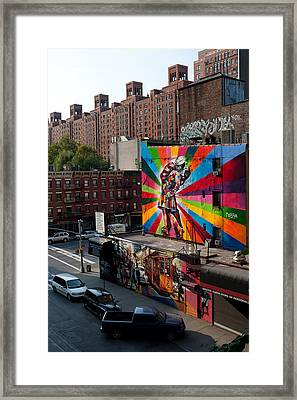 Murales In New York Framed Print by Andrea Visconti