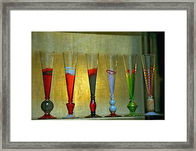 Murano Glasses In Venice Framed Print by Michael Henderson