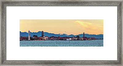 Murano Sunrise Framed Print by Art Ferrier