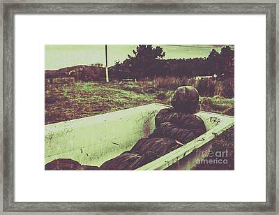 Murder Body Bag Framed Print