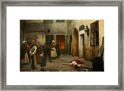 Murder In The House Framed Print by MotionAge Designs