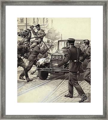 Murder Of King Alexander Of Yugoslavia Framed Print