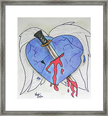 Murdered Soul Framed Print by Loretta Nash
