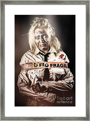 Murderer Caught At The Scene Of The Crime Framed Print by Jorgo Photography - Wall Art Gallery