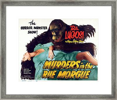 Murders In The Rue Morgue, The Girl Framed Print by Everett