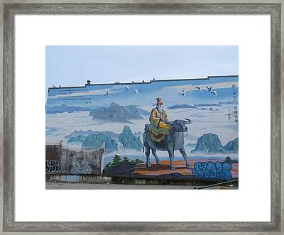 Mural In Chinatown Vancouver Framed Print