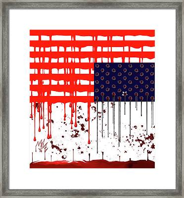 America In Distress Framed Print