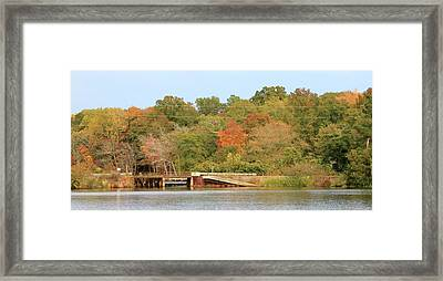 Murphy Mill Dam/bridge Framed Print by Jerry Battle
