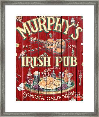 Murphy's Irish Pub - Sonoma California - 5d19290 Framed Print by Wingsdomain Art and Photography