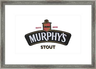 Murphys Irish Stout Framed Print by EricaMaxine  Price