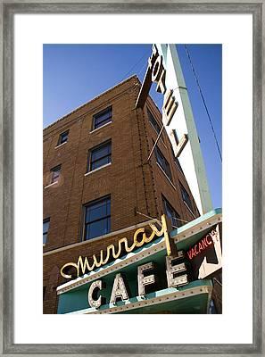 Murray Cafe And Hotel Framed Print by Rachel Barner
