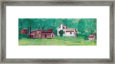 Murray Hill Watercolor Framed Print by Fred Jinkins