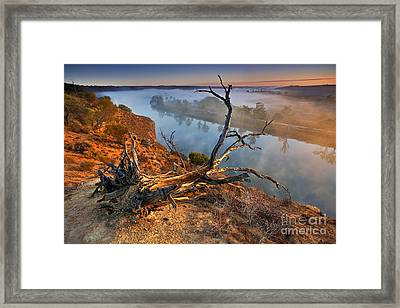 Murray River Dawn Framed Print by Bill  Robinson