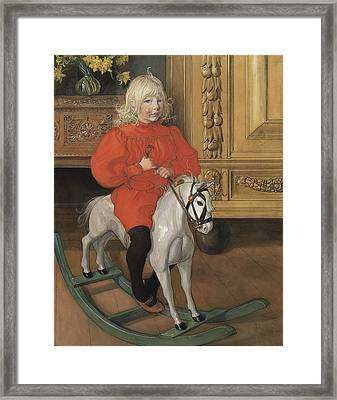 Murre - Portrait Of Casimir Laurin Framed Print by Carl Larsson
