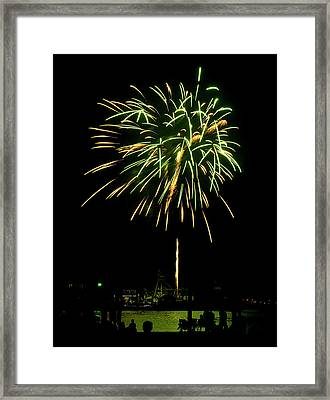 Framed Print featuring the photograph Murrells Inlet Fireworks by Bill Barber