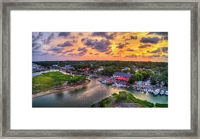Murrells Inlet Marshwalk Sunset Framed Print by Robbie Bischoff