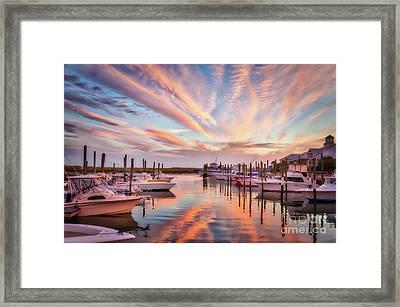 Murrells Inlet Sunset 2 Framed Print by Mel Steinhauer